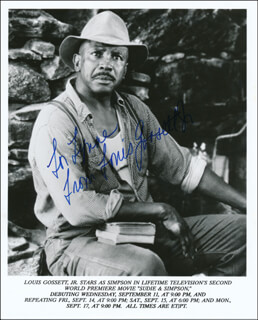 LOUIS GOSSETT JR. - INSCRIBED PRINTED PHOTOGRAPH SIGNED IN INK