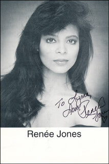 RENEE JONES - INSCRIBED PRINTED PHOTOGRAPH SIGNED IN INK