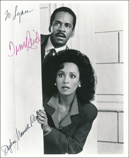 SNOOPS TV CAST - AUTOGRAPHED INSCRIBED PHOTOGRAPH CO-SIGNED BY: TIM REID, DAPHNE MAXWELL REID - HFSID 342044