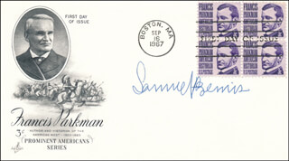 SAMUEL FLAGG BEMIS - FIRST DAY COVER SIGNED
