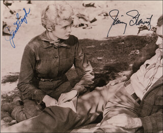 THE NAKED SPUR MOVIE CAST - AUTOGRAPHED SIGNED PHOTOGRAPH CO-SIGNED BY: JAMES JIMMY STEWART, JANET LEIGH