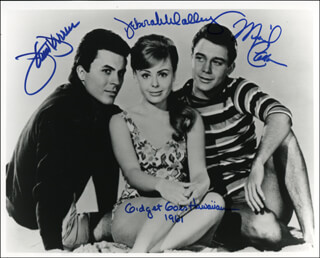 GIDGET GOES HAWAIIAN MOVIE CAST - AUTOGRAPHED SIGNED PHOTOGRAPH CO-SIGNED BY: DEBORAH WALLEY, JAMES DARREN, MICHAEL MICKEY CALIN CALLAN