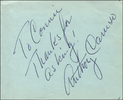 ANTHONY CARUSO - AUTOGRAPH NOTE SIGNED