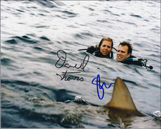 OPEN WATER MOVIE CAST - AUTOGRAPHED SIGNED PHOTOGRAPH CO-SIGNED BY: DANIEL TRAVIS, BLANCHARD RYAN