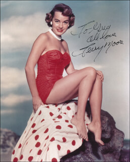 TERRY MOORE - AUTOGRAPHED INSCRIBED PHOTOGRAPH