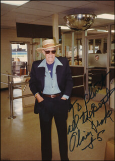 OLIVER DRAKE - AUTOGRAPHED INSCRIBED PHOTOGRAPH 1985