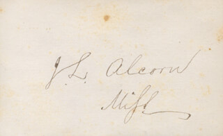 Autographs: BRIGADIER GENERAL JAMES L. ALCORN - SIGNATURE(S)