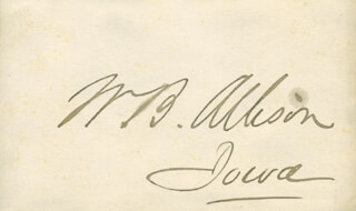 Autographs: WILLIAM B. ALLISON - SIGNATURE(S)