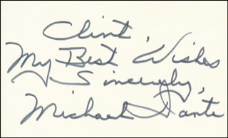 MICHAEL DANTE - AUTOGRAPH NOTE SIGNED