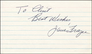 JANE FRAZEE - AUTOGRAPH NOTE SIGNED