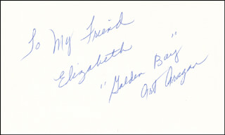 ART GOLDEN BOY ARAGON - AUTOGRAPH NOTE SIGNED