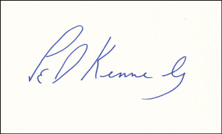 EDWARD TED KENNEDY - AUTOGRAPH