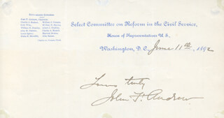JOHN FORRESTER ANDREW - AUTOGRAPH SENTIMENT SIGNED 06/11/1892