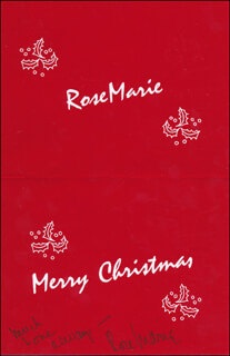 ROSE MARIE - CHRISTMAS / HOLIDAY CARD SIGNED