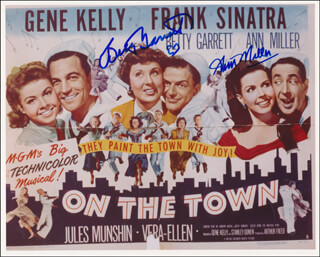 ON THE TOWN MOVIE CAST - AUTOGRAPHED SIGNED PHOTOGRAPH CO-SIGNED BY: BETTY GARRETT, ANN MILLER