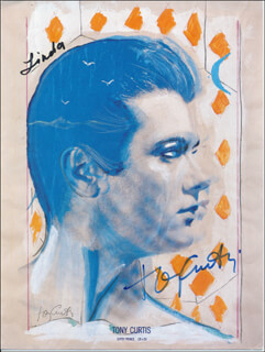 TONY CURTIS - PROGRAM COVER SIGNED