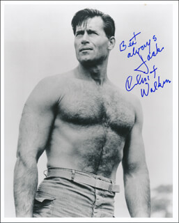 CLINT WALKER - AUTOGRAPHED INSCRIBED PHOTOGRAPH