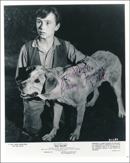 TOMMY KIRK - INSCRIBED PRINTED PHOTOGRAPH SIGNED IN INK