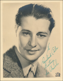 DON AMECHE - AUTOGRAPHED INSCRIBED PHOTOGRAPH  - HFSID 342360