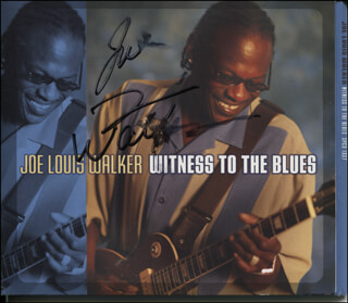 JOE LOUIS WALKER - DVD/CD COVER SIGNED