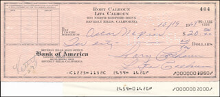 RORY CALHOUN - AUTOGRAPHED SIGNED CHECK 10/19/1964 CO-SIGNED BY: LITA BARON CALHOUN