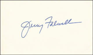 Autographs: REVEREND JERRY L. FALWELL - SIGNATURE(S)