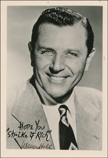 WARREN HULL - AUTOGRAPHED SIGNED PHOTOGRAPH