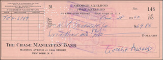 Autographs: GEORGE AXELROD - CHECK SIGNED 06/28/1960