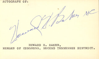 Autographs: HOWARD HENRY BAKER, SR. - SIGNATURE(S)