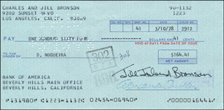 JILL IRELAND - AUTOGRAPHED SIGNED CHECK 03/10/1978