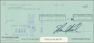 HOWARD KEEL - AUTOGRAPHED SIGNED CHECK 05/17/1974