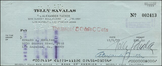TELLY SAVALAS - AUTOGRAPHED SIGNED CHECK 12/06/1977