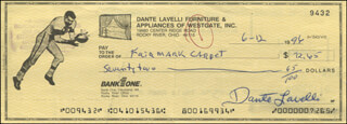 DANTE GLUEFINGERS LAVELLI - AUTOGRAPHED SIGNED CHECK 06/12/1996