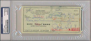 JACK LORD - AUTOGRAPHED SIGNED CHECK 07/07/1961