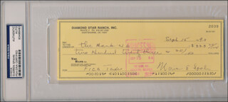 WARREN SPAHN - AUTOGRAPHED SIGNED CHECK 09/15/1993