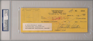 CHARLTON HESTON - AUTOGRAPHED SIGNED CHECK 03/11/1960