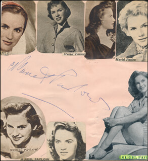 BONAR COLLEANO - AUTOGRAPH CO-SIGNED BY: MURIEL PAVLOW