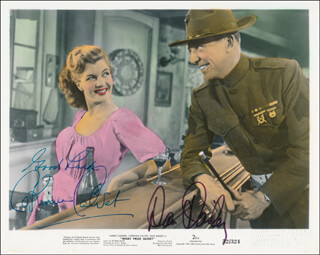 WHAT PRICE GLORY MOVIE CAST - PRINTED PHOTOGRAPH SIGNED IN INK CO-SIGNED BY: DAN DAILEY, CORINNE CALVET