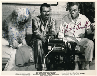 FOR THOSE WHO THINK YOUNG MOVIE CAST - PRINTED PHOTOGRAPH SIGNED IN INK CO-SIGNED BY: PAUL LYNDE, WOODY WOODBURY