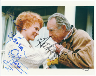 ONLY THE LONELY MOVIE CAST - AUTOGRAPHED SIGNED PHOTOGRAPH CO-SIGNED BY: ANTHONY QUINN, MAUREEN O'HARA
