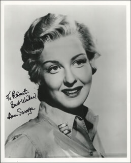 ANN SAVAGE - AUTOGRAPHED INSCRIBED PHOTOGRAPH