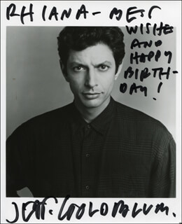 JEFF GOLDBLUM - AUTOGRAPHED INSCRIBED PHOTOGRAPH