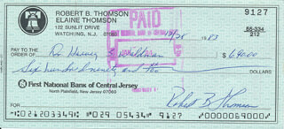 BOBBY THOMSON - AUTOGRAPHED SIGNED CHECK 12/28/1983