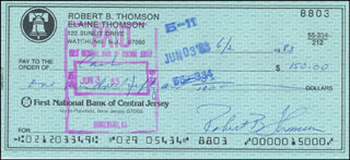 BOBBY THOMSON - AUTOGRAPHED SIGNED CHECK 06/02/1983 CO-SIGNED BY: MEGAN THOMSON ARMSTRONG