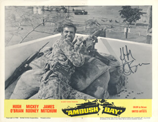 Autographs: HUGH O'BRIAN - LOBBY CARD SIGNED