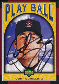 CURT SCHILLING - TRADING/SPORTS CARD SIGNED