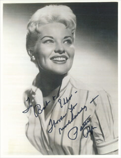 PATTI PAGE - AUTOGRAPHED INSCRIBED PHOTOGRAPH  - HFSID 342682
