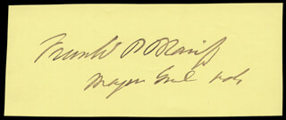 Autographs: MAJOR GENERAL FRANCIS P. BLAIR JR. - SIGNATURE(S)