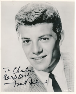 Autographs: FRANKIE AVALON - INSCRIBED PHOTOGRAPH SIGNED