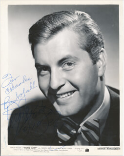 GEORGE MONTGOMERY - INSCRIBED PRINTED PHOTOGRAPH SIGNED IN INK